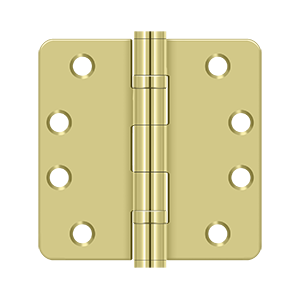"Deltana S44R4HDB 1/4"" Radius Hinge, HD, Ball Bearings - 4"" x 4"""