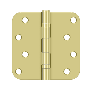 "Deltana S44R5BB 5/8"" Radius Hinge, Ball Bearings - 4"" x 4"" - Stellar Hardware and Bath"