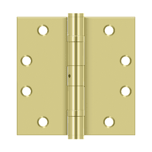 Deltana S45BBN Ball Bearing Heavy Duty Non-Removable Pin Square Corner Hinge - 4 1/2'' x 4 1/2'' - Stellar Hardware and Bath