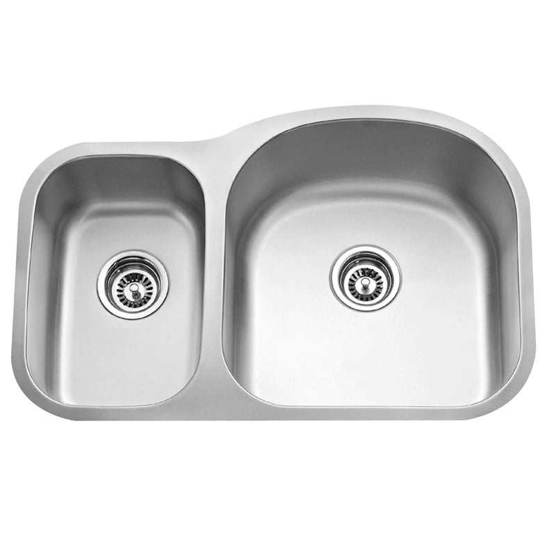 Fine Fixture Double Bowl - S654R - Stellar Hardware and Bath