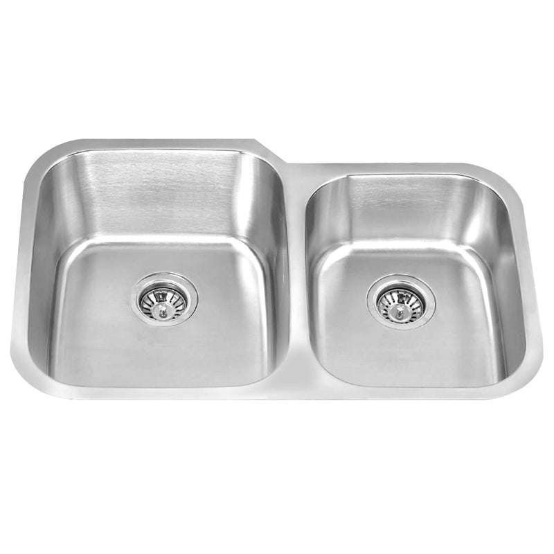 Fine Fixture Double Bowl - S655 - Stellar Hardware and Bath