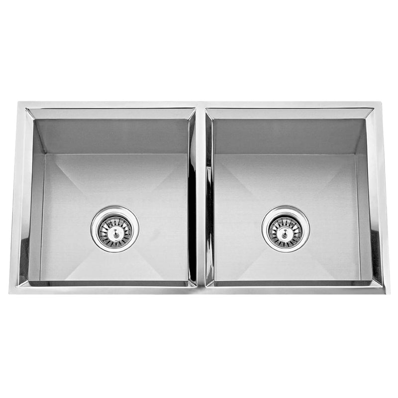Fine Fixture Double Bowl - S751 - Stellar Hardware and Bath