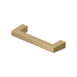 "Deltana SBP35 Modern Square Bar Pull, 3-1/2"", HD, Solid Brass - Stellar Hardware and Bath"