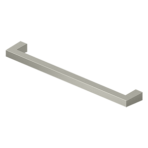 "Deltana SBP80 Modern Square Bar Pull, 8"", HD, Solid Brass - Stellar Hardware and Bath"