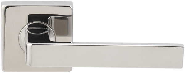 "Inox SE345L72-32 SE345 Tokyo Lever, Tubular Privacy, 2-3/4"" Backset, Polished Stainless Steel"