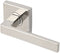 "Inox SE345L71-32 SE345 Tokyo Lever, Tubular Passage, 2-3/4"" Backset, Polished Stainless Steel"