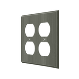 SWP4771 Quadruple Outlet Switch Plate - 4 1/2'' x 4 1/2''