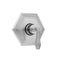Hex Plate with Smooth Lever Trim for Thermostatic Valves (J-TH34 & J-TH12) - Stellar Hardware and Bath