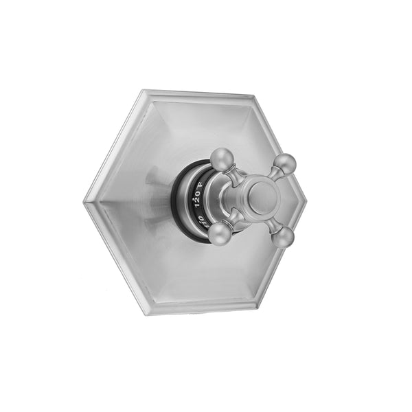 Hex Plate with Ball Cross Trim for Thermostatic Valves (J-TH34 & J-TH12) - Stellar Hardware and Bath