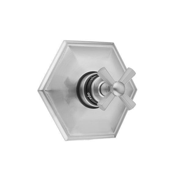 Hex Plate with Hex Cross Trim for Thermostatic Valves (J-TH34 & J-TH12) - Stellar Hardware and Bath