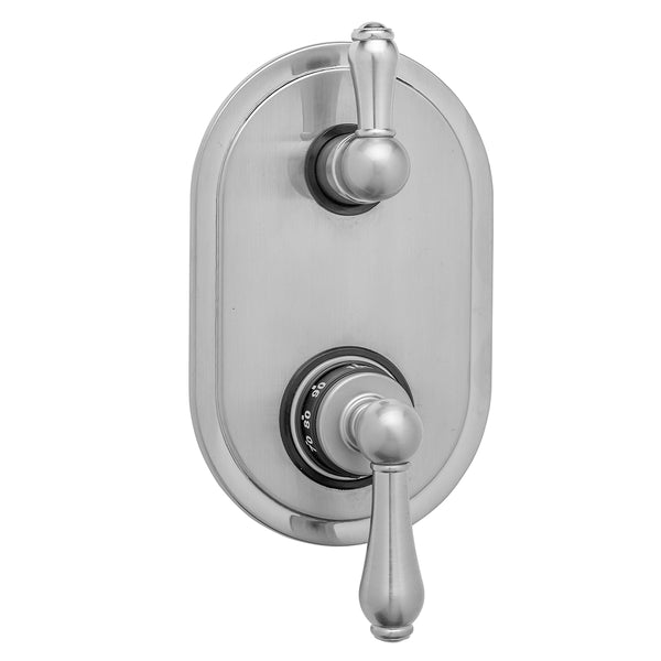 Oval Plate with Regency Thermostatic Valve with Regency Peg Lever Built-in 2-Way Or 3-Way Diverter/Volume Controls (J-TH34-686 / J-TH34-687 / J-TH34-688 / J-TH34-689) - Stellar Hardware and Bath