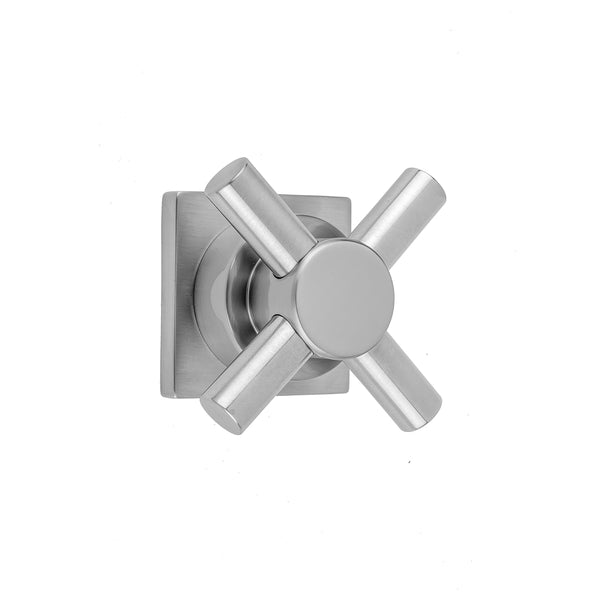 Contempo Cross with Square Escutcheon Trim for Exacto Volume Controls and Diverters (J-VC34 / J-VC12 / J-20682 / J-20686 / J-20688) - Stellar Hardware and Bath