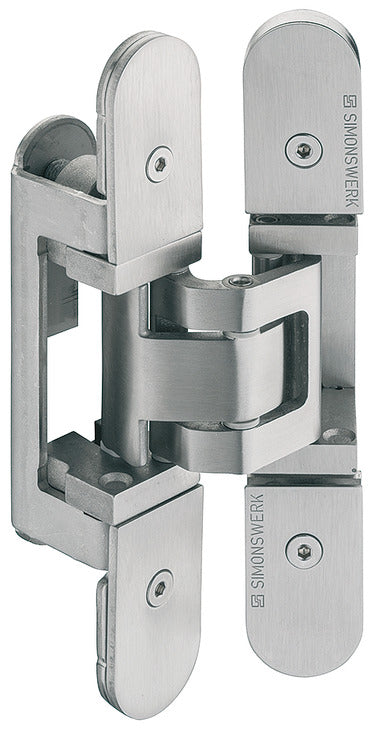 Concealed Hinge, Simonswerk TECTUS TE 527 3D Stainless Steel Look - Stellar Hardware and Bath