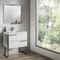 Lucena Bath canela and black Vision Tall Unit - Stellar Hardware and Bath