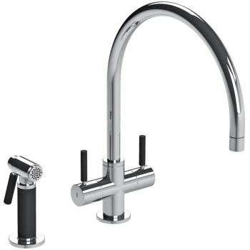 "Lefroy Brooks X1-2055  XO Kitchen Faucet With Sidespray  13-3/4"" H - Stellar Hardware and Bath"