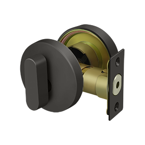 Deltana ZDR Zinc Modern Low Profile Deadbolt Lock Grade 3 - Stellar Hardware and Bath