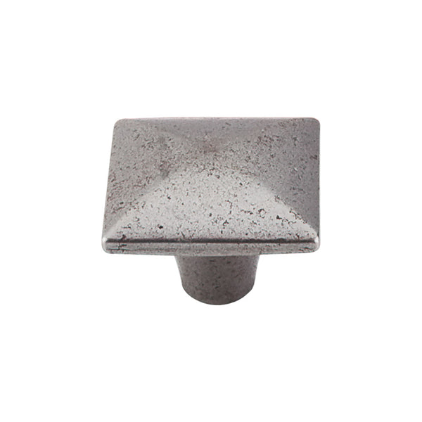 Top Knobs Square Iron Knob Smooth 1 3/8 Inch