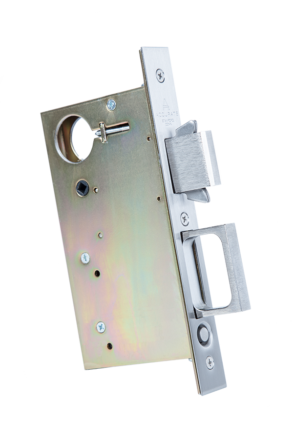 Accurate Lock 2002CPDL-5i  Pocket Door Lock and Edge Pull - Stellar Hardware and Bath
