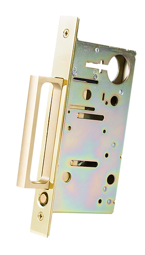 "Accurate Lock  2002CPDP-Q 3 3/8"" MORTISE overall depth standard Spring Loaded Edge Pull - Stellar Hardware and Bath"