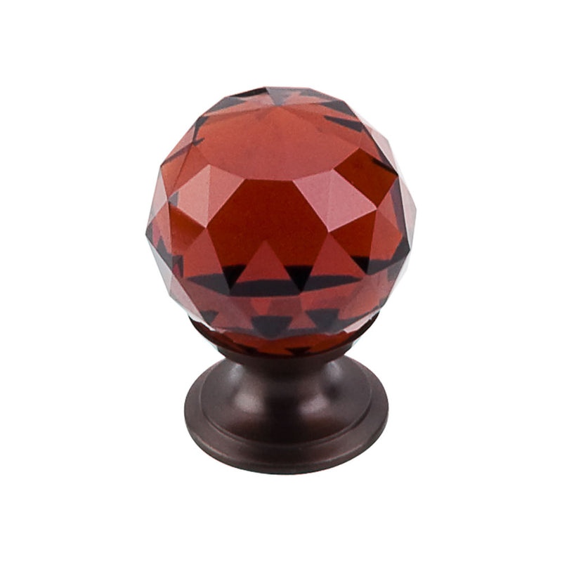 Top Knobs Wine Crystal Knob 1 1/8 Inch  Base - Stellar Hardware and Bath