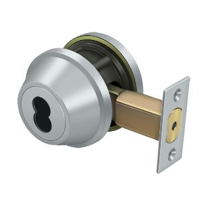 "Deltana CL200LAIC Single Deadbolt IC Core Non CYL GR2 w/ 2-3/4"" Backset"