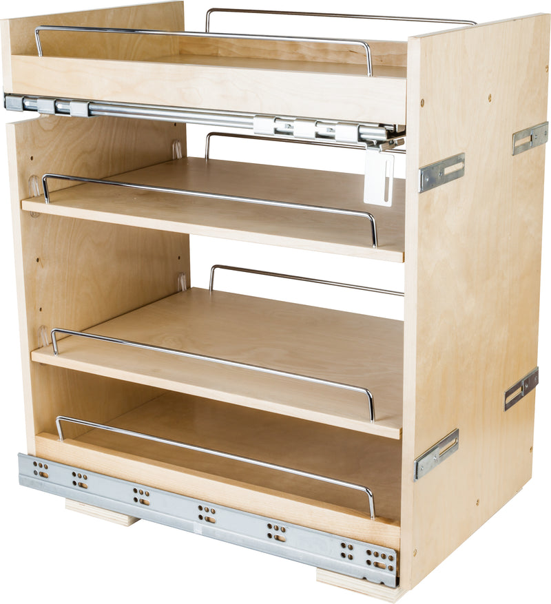 "No Wiggle  14"" Base Cabinet Pullout with Premium Soft-close Concealed Undermount Ses - Stellar Hardware and Bath"