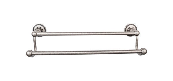 Top Knobs Edwardian Bath Towel Bar 24 In. Double - Stellar Hardware and Bath