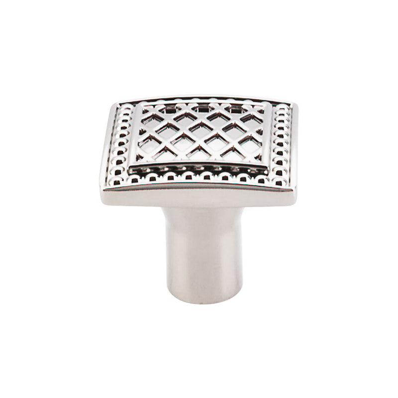 Top Knobs Trevi Square Knob 1 1/4 Inch - Stellar Hardware and Bath