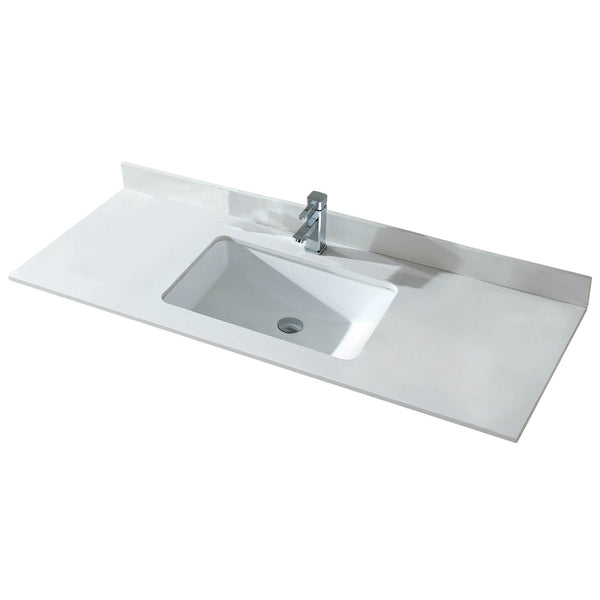 "Fine Fixture Quartz top 60"" Single or Double - Stellar Hardware and Bath"