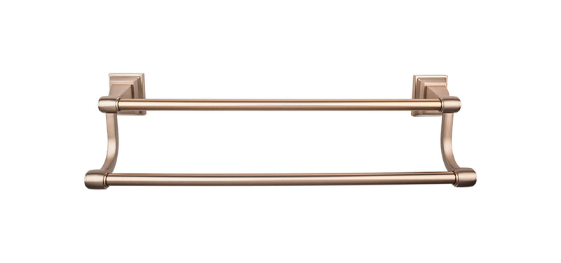 Top Knobs Stratton Bath Towel Bar 30 Inch Double - Stellar Hardware and Bath