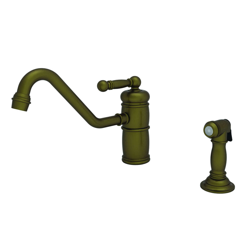 Newport Brass 941 Nadya Single Hole Kitchen Faucet with Side Spray - Stellar Hardware and Bath