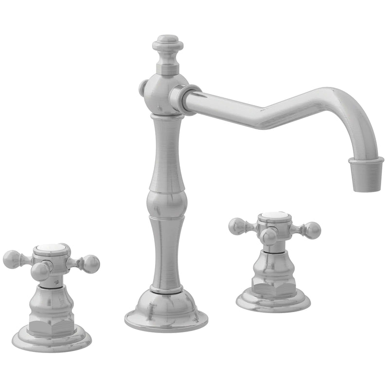 Newport Brass 942 Chesterfield Double Handle Widespread Kitchen Faucet with Metal Cross Handles - Stellar Hardware and Bath