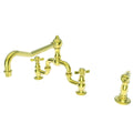 Newport Brass 9451-1 Fairfield Kitchen Bridge Faucet with Side Spray - Stellar Hardware and Bath