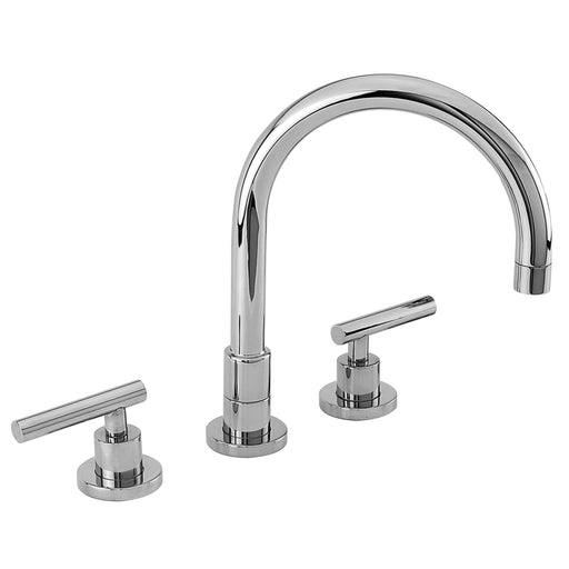 Newport Brass 9901L East Linear Double Handle Widespread Kitchen Faucet with Lever Handles