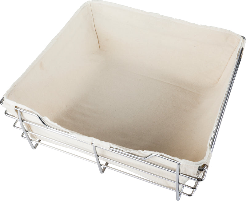 Tan Canvas Basket Liner  POB1-162317 Basket - Stellar Hardware and Bath