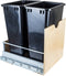 Preassembled 50 Quart Single Pullout Waste Container System - Stellar Hardware and Bath