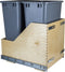 Preassembled 50 Quart Double Pullout Waste Container System - Stellar Hardware and Bath