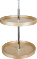 "18"" Round Banded Lazy Susan Set with Twist and Lock Adjustable Pole - Stellar Hardware and Bath"
