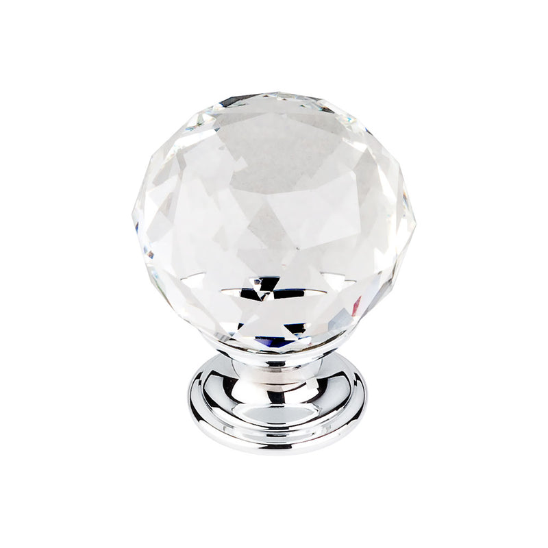 Top Knobs Clear Crystal Knob 1 3/8 Inch  Base - Stellar Hardware and Bath