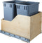 Preassembled 35 Quart Double Pullout Waste Container System - Stellar Hardware and Bath