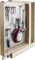 "3"" Base Cabinet Filler with  Pegboard Organizer - Stellar Hardware and Bath"