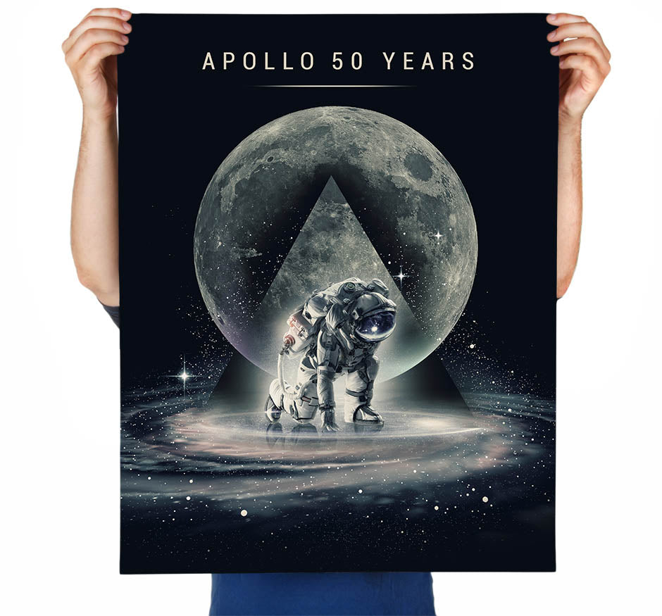 Apollo 50 Year Anniversary Art Print