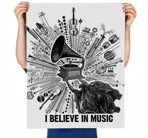 I Believe in Music Art Print
