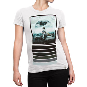 Moonsurfer White Women's T