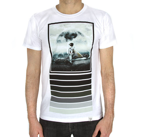 Moonsurfer  White Men's T