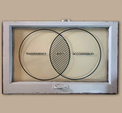Transparency window pane Venn Art