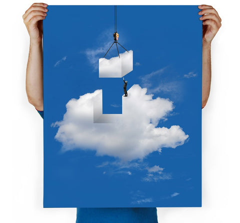 Cloud Construction Art Print