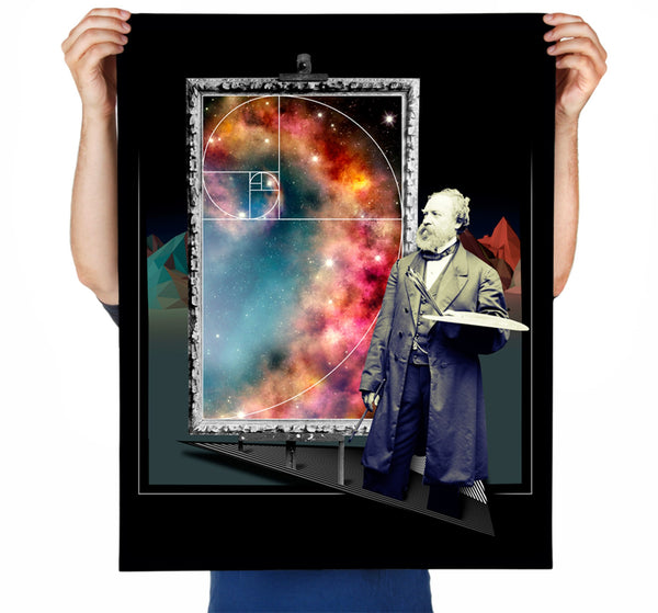 Golden Galaxy Art Print