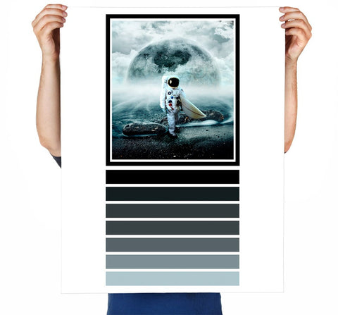 Moonsurfer Art Print