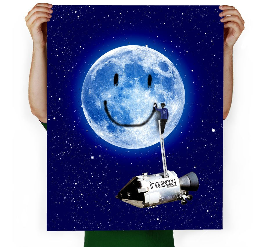 Moon Tag Art Print